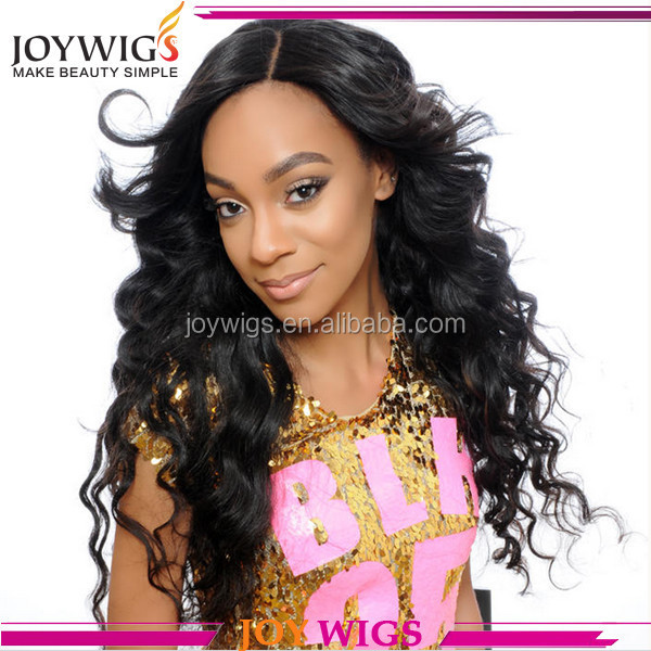 Beautiful hair style virgin Brazilian curly hair glueless full lace wig/lace front wig