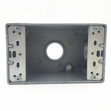 3/4'' aluminium waterproof electrical outlet box one gang