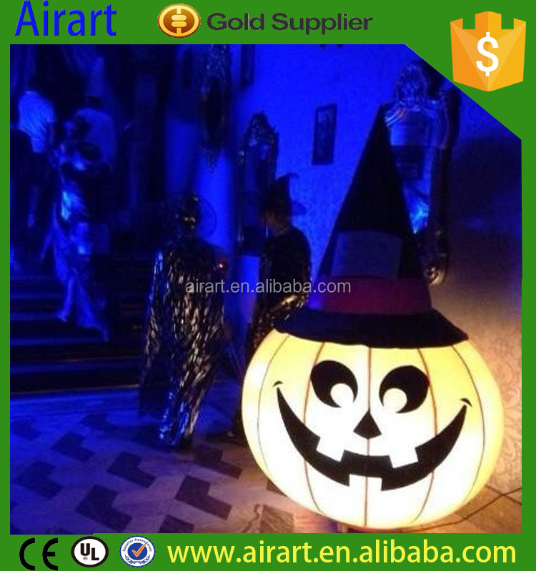 Best-sale halloween giant inflatable pumpkin decoration with led light