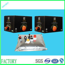 (Best selling) High quality low price orange juice bag in box, fresh juice bag in box, apple juice bag in box with vitop valve
