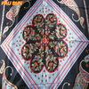 Fashion in store square flower custom made tudung bawal polyester scarf
