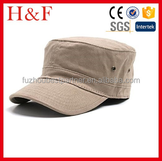 Rounded crown Military inspired cap Washed Military Hat