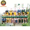 6 seats kids thrilling carnival games amusement frog jumping rides mini free fall equipment