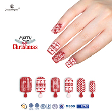 Fengshangmei acrylic nails korea popular nail tips artificial new design cheap red color nails