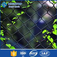 Cheap chain link fence with Barbed Wire Overhang / chain link fence top barbed wire