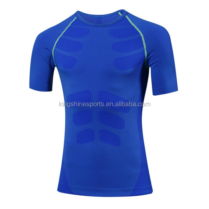 New plain men's polyester/spandex moisture wicking o neck short sleeve plain dyed fitness/running sportwear men's t shirt