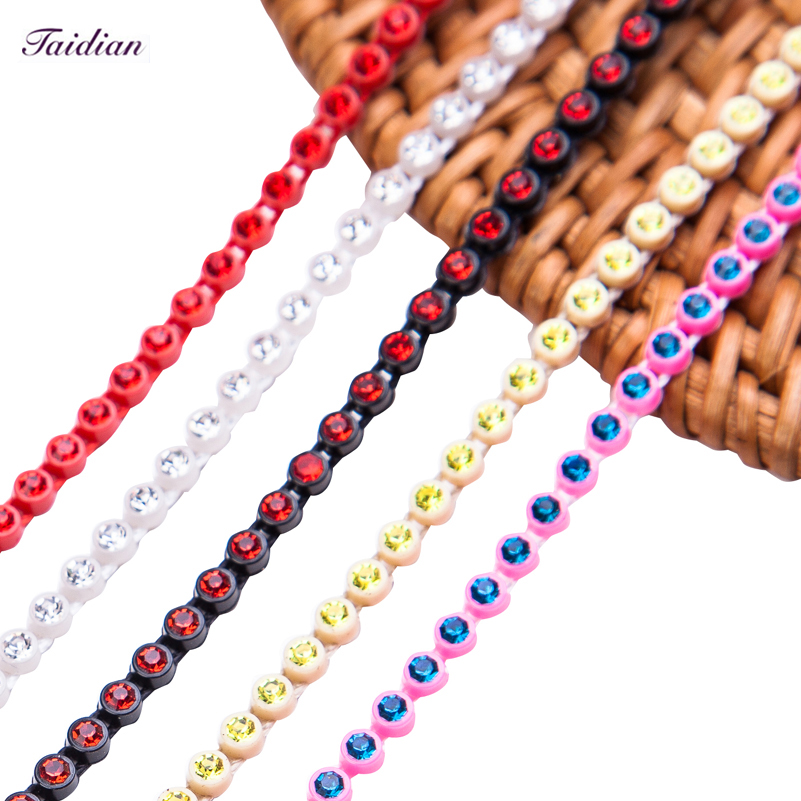 Taidian DIY beadwork Supplier Top quality Grade AAAAA SS8 wholesale rhinestone trim Factory