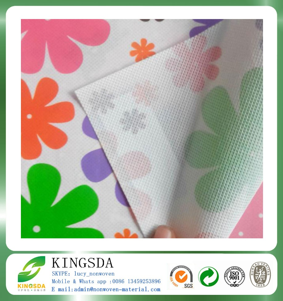 wholesale price custom printing pp spunbond non woven fabric roll