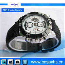 720P Mini DVR recorder Digital watch DVR changeable battery watch Video Recorder + Hidden Camera + IR night Recording K4000