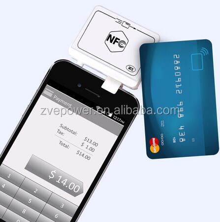 13.56mhz Mini 35mm ACR35 Smart NFC Card Reader For Android mobile phone