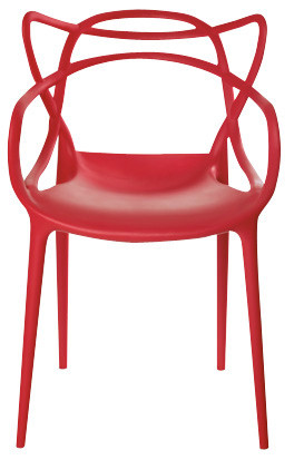 Modern Design Stackable Chair with Bold Details in polypropylene