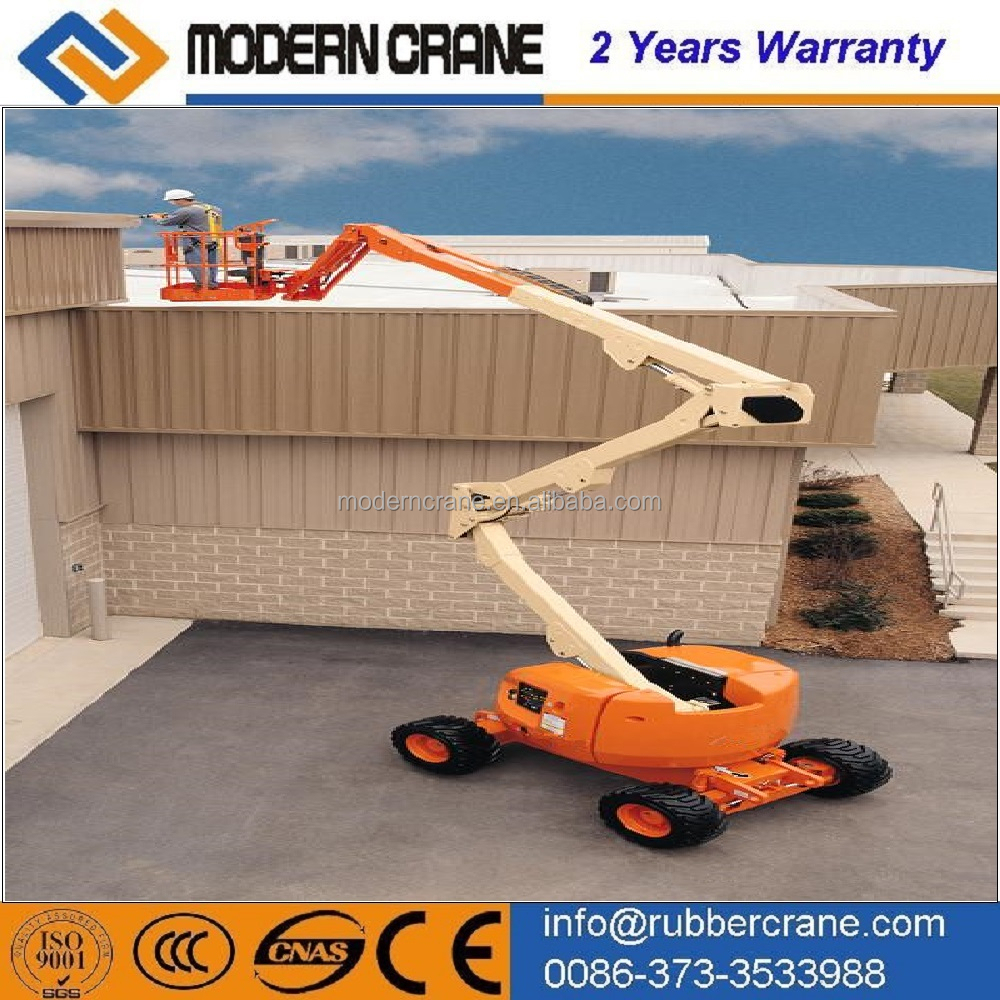 Telescopic hydraulic boom lift, Crank arm lift platform, one person lift