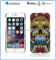 Full edge protect water transfer OEM skull phone case cover for iphone 5/6/6s/6s plus