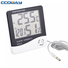 clock humidity and temperature meter