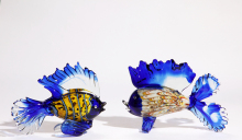 Grace glass fish decoration wholesale handblown art glass