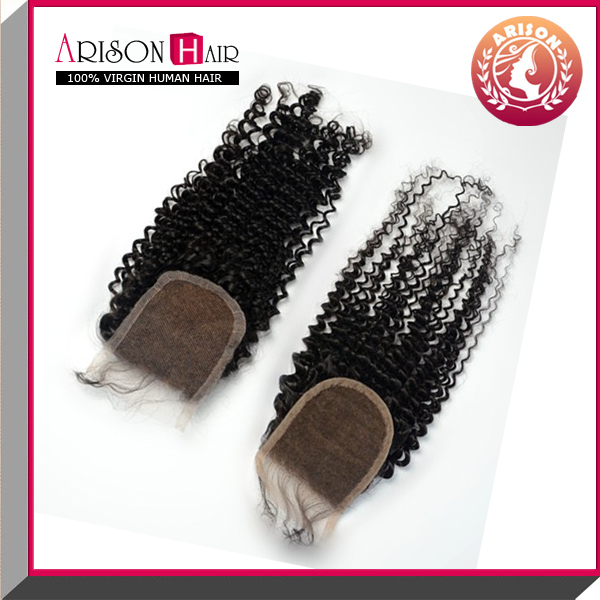 natural look lace closure New wholesale price natural color cheap lace closure piece