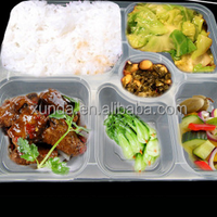 6 Compartment Plastic Food Container Bento