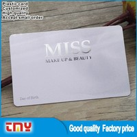 Hot Stamping Attractive Appearance Plastic Member Card PVC VIP Visiting Card Design