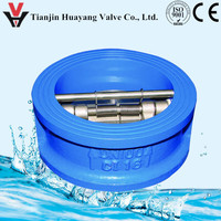 dual disc plate spring loaded flapper check valve