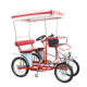 Four Wheel Single And Double Rider Bicycles