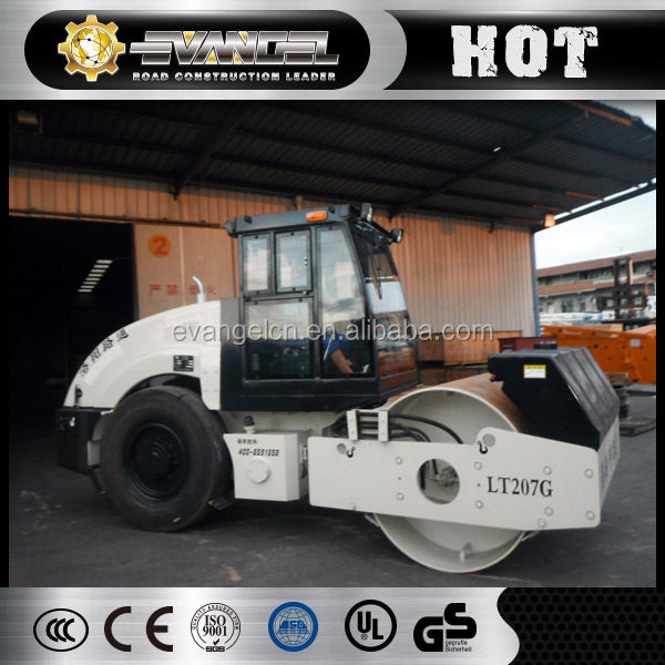Lutong 7000kg weight of road roller LT207G with spare parts