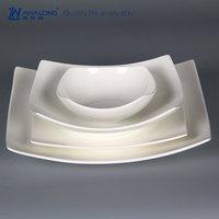Pure white bone china plates dishes / Ceramic tableware / fine western dishes dinnerware