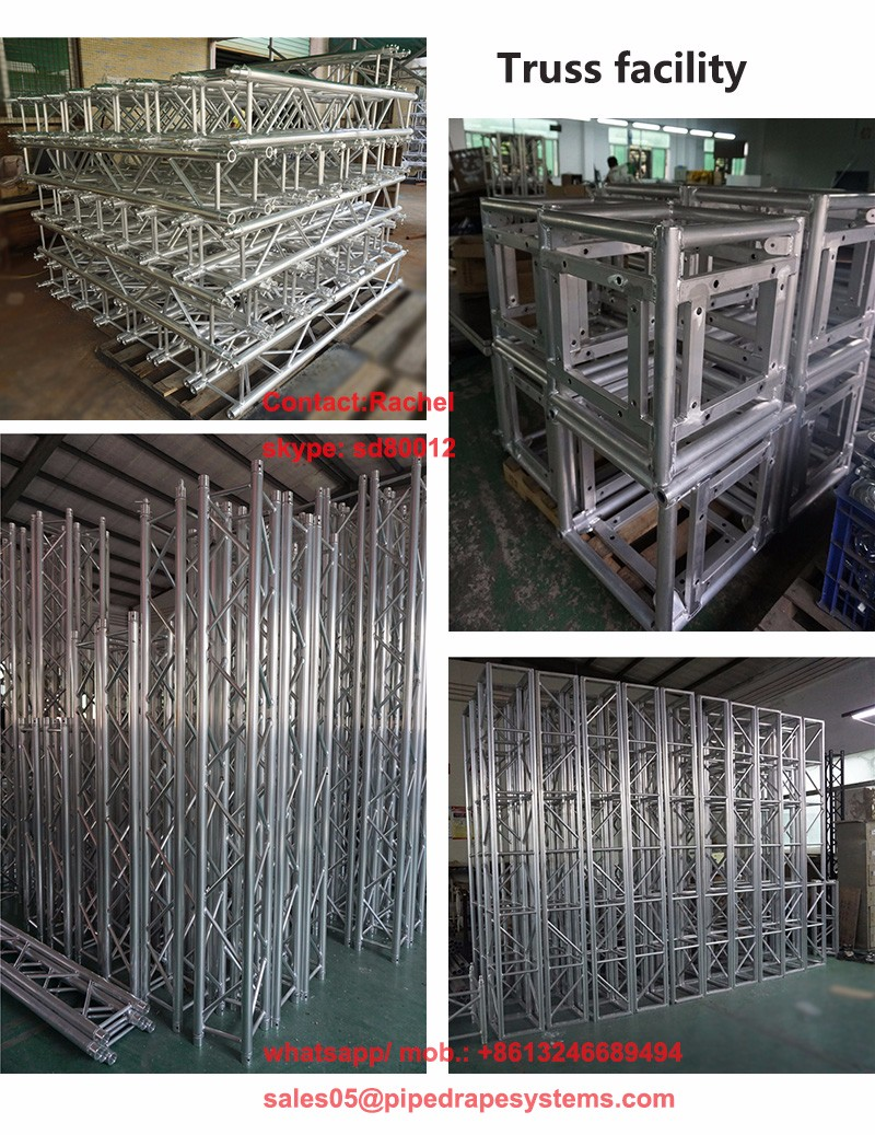 Aluminum lighting speaker roof truss systems stage equipment for outdoor event