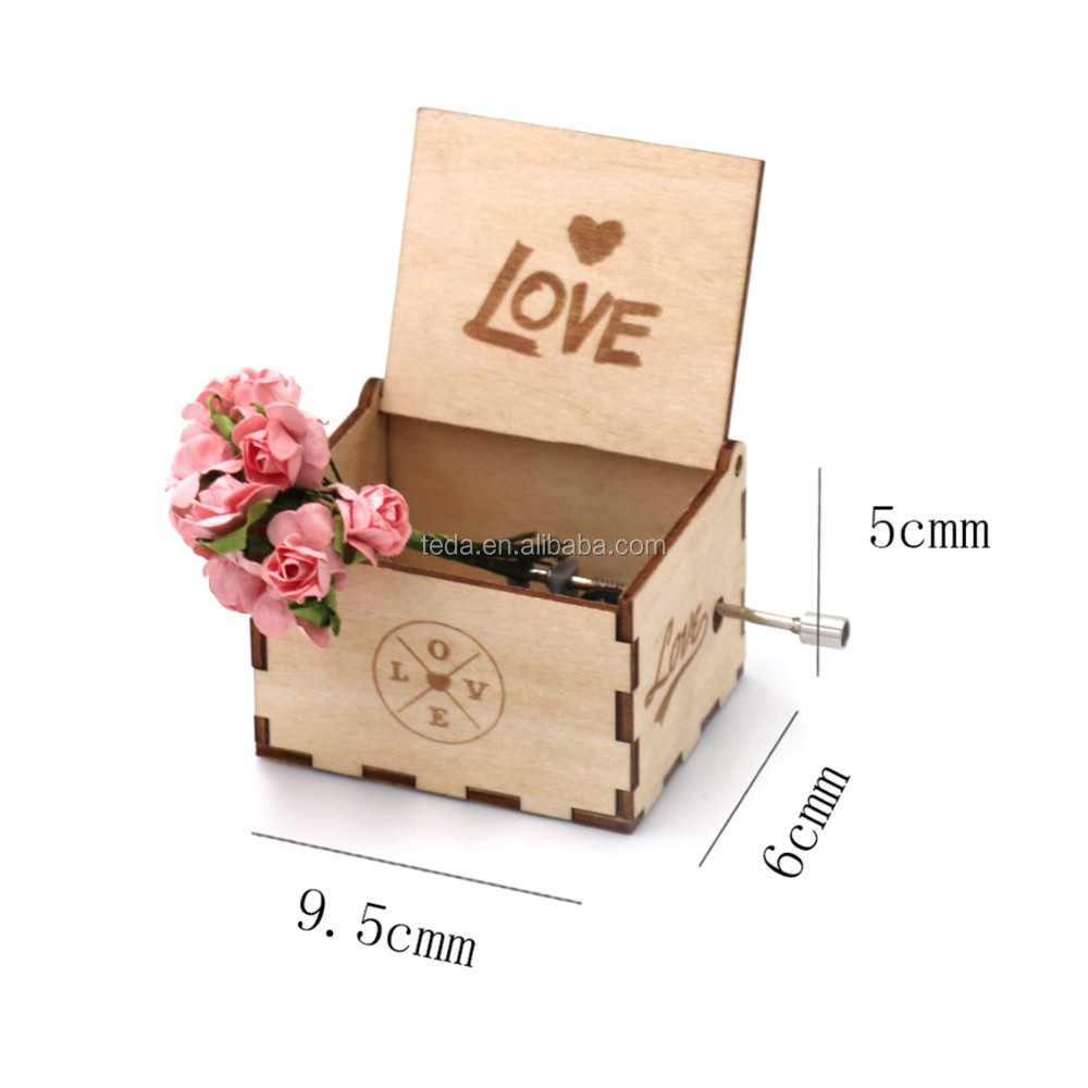accept custom wedding favors music box for wedding guest gift