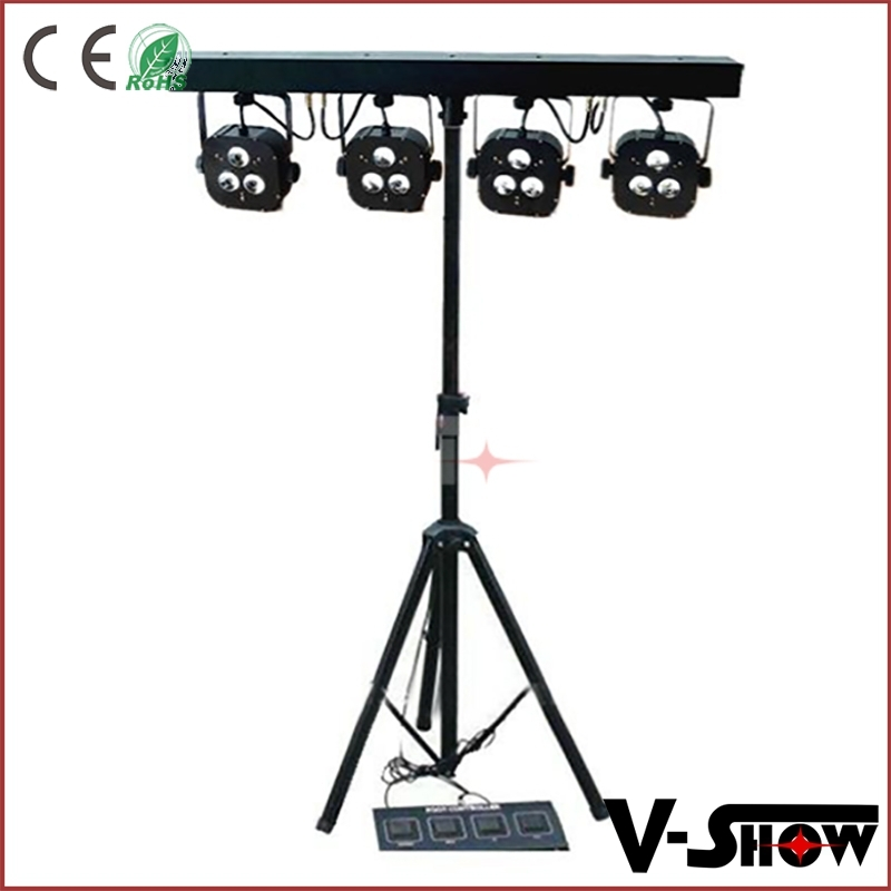 DJ equipment 4 head par light 3x15w digital bar led foot controller music 4 bar led