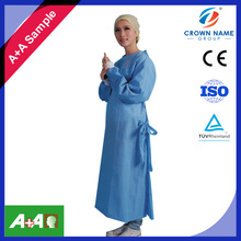 Free Sample On Double 11 Festival Medical Women SMS Long Sleeves Knitted Cuffs Sterile Surgical Gown