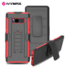 IVYMAX sliding stand holder rugged protective rubber bumper hybrid armor tough case for Galaxy NOTE 8