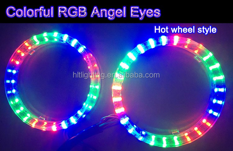 80mm 27SMD 3528 Led Headlight LED Halo Ring Angel Eyes Lighting Kit