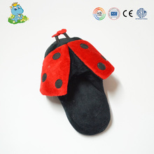 Cheap plush Indoor ladybug shape Warm Winter Slippers and Shoes for baby