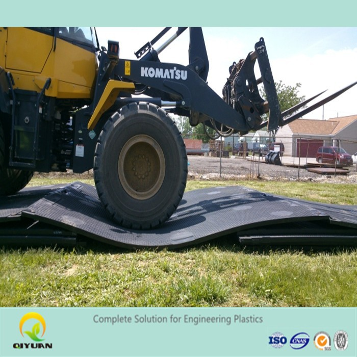 Large plastic floor mat and heavy duty uhmwpe crane mats
