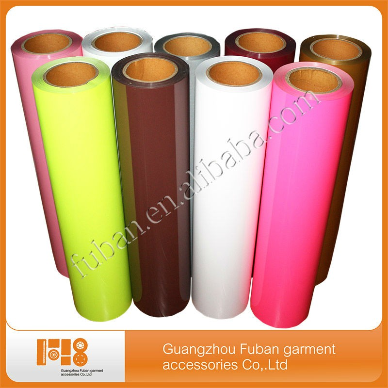 "wholesale 11 colors 10""*10"" /10""*12"" / 12""*15"" size pu heat transfer film/vinyl sheets for basketball jersey"