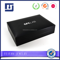 Wholesale Tie Clip box Cheap Black Cufflink Boxes with logo Hot Sale Jewelry Box