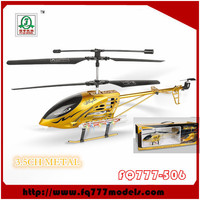 Big Golden All Metal Rc Model Helicopter 3.5CH with Gyro