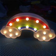 LED Rainbow Colorful Marquee Sign Perfect for Bedside Kids Room Night Light Decoration