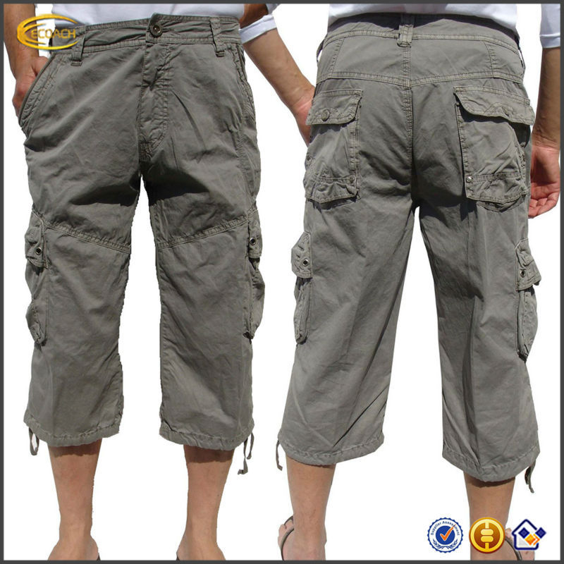 Oem Wholesale Men's Drawstrings On Leg Military-style Solid Cargo ...