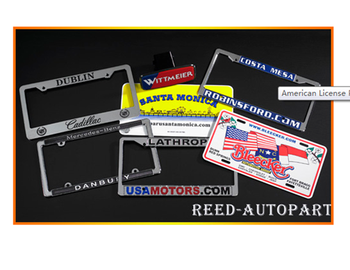 American License Plate Frame, ABS License Plate, Plastic License Plate Frame