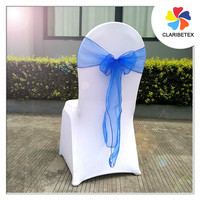 China textiles Royal blue organza pageant chair sashes