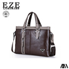 Leather men handbag, Customized wholesale business men tote bag