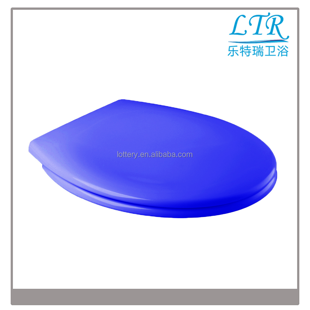 Automatic pop up toilet lid light with dark blue color