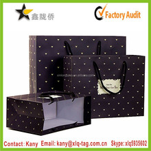 2015 Factory Price Italy fashion design paper clothing bag with drawstring