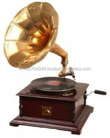 Antique Gramophone Brass and Wooden Gramophone, Item number Sai-1053