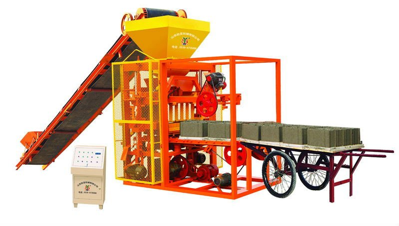 QTJ4-26A vibration automatic kerb brick making machine hollow/solid/paving block making industrail equipment in China price