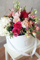 Round paper box for flower bouquets packaging