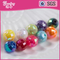 hot sale colorful 12mm acrylic crystal bead curtain facted beads in bulk wholesale