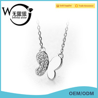 Infinite Alibaba Pendant Necklace Wholesale 925 Silver Jewellery custom silver necklace