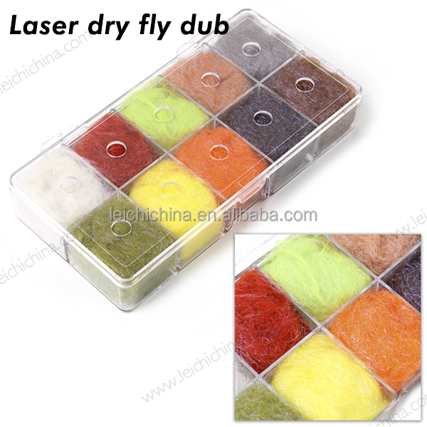 10 colors combo Laser dry dubbing fly tying materials